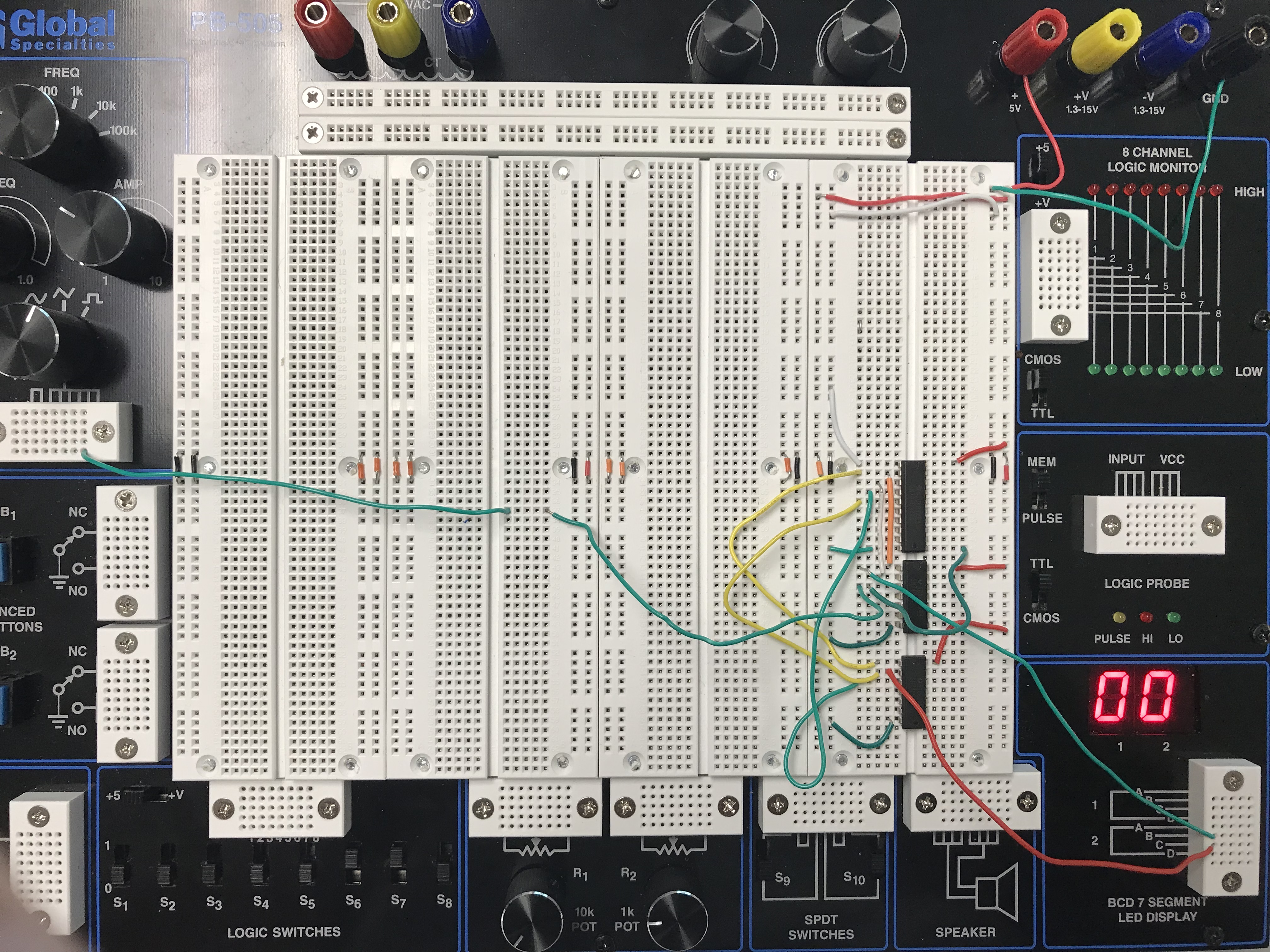 Lab 8 Scoring Display With 7 Segment Led Schematic Design Click Here To See A Sample Circuit